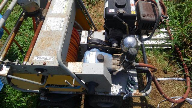 動噴の整備 ベルト交換した